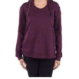 Triple Five Soul Plum Scoop Neck Hoodie